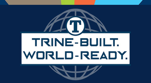 Trine Built, World Ready logo